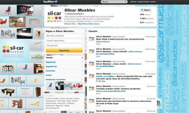 Twitter Silcar Muebles